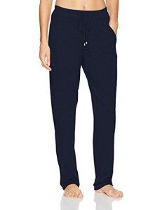 HANRO Women's Sleep and Lounge Knit Long Pant, Crown Blue, Medium