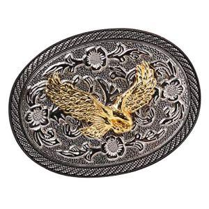 IPOTCH Accessoire Antique De Boucle De Ceinture En Métal Ovale De Cowboy Occidental De Modèle De Rodéo Antique – Aigle, comme décrit