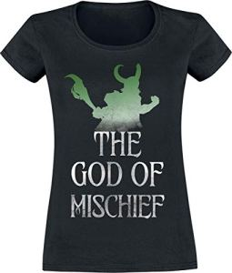 Loki The God of Mischief T-Shirt Manches Courtes Noir M