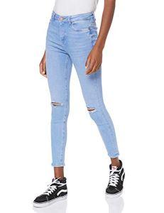 New Look Rip Fray Hem Disco Jaffa Jean Skinny, Bleu (Blue (Denim Only) 46), 42 (Taille Fabricant: 14L32) Femme