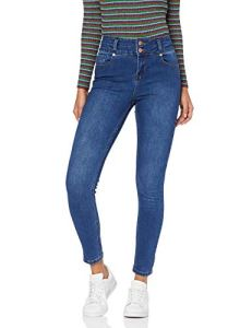 New Look Timmy Highwaist, Jean skinny Jean skinny Femme, Bleu (Mid Blue 40), 36 (Taille fabricant: 8)