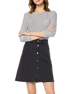 ONLY NOS Onlfarrah Reg DNM Skirt Bj14495 Noos Jupe, Noir Black Denim, 44 (Taille Fabricant: 42.0) Femme