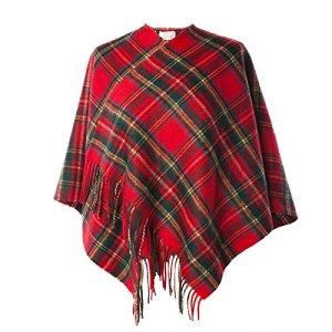 Heritage of Scotland – Poncho – Cape – Femme – Rouge – Taille Unique