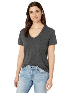 AG Adriano Goldschmied Women's Henson Tee, Heather Charcoal, Extra Large