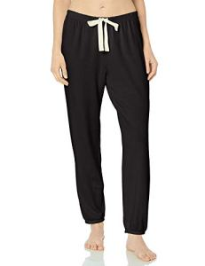 Amazon Essentials Lightweight Lounge Terry Jogger Pant pajama-bottoms, Noir, US L (EU L – XL)