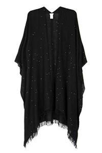 BRUNELLO CUCINELLI Luxury Fashion Femme MSCDVSP18C101 Noir Poncho | Automne_Hiver