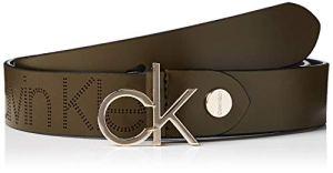 Calvin Klein K60k606077 Ceinture, Vert (Drk Olive Lbb), (Taille fabricant: 85) Femme