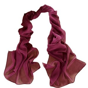 Demarkt Femme Longue Écharpe Châle Souple Couleur Unie Belle Elégant Écharpe Accessoire Pour Automne Hiver-Multicolore