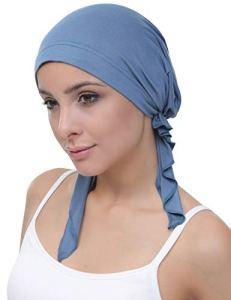 Deresina pretendu en Coton Bandana pour la Perte de Cheveux (Carolina Blue)