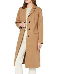 Dorothy Perkins Camel Fitted Single Breasted Crombie Manteau, Marron (Light Brown 522), 38 (Taille Fabricant: 10) Femme