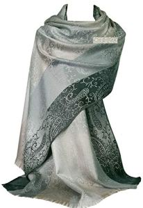 GFM® design de fleurs Echarpe style Pashmina (S1-9321-BH).