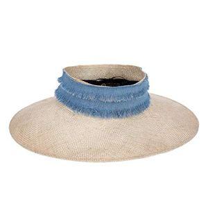 Havanadd-Clothing Chapeau de Paille des Femmes Chapeau de Vacances de Chapeau UV de Chapeau de Protection UV de Protection Solaire de Plage Paille (Taille : L)