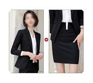 Jupe Rose Pantalon Costume Femme 2020 Nouveau Tempérament Mode OL Manches Longues Costume Veste et Pantalon de Bureau Dames Robe Formelle – – Taille M