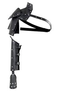 keland Brassard en cuir steampunk gothique pour femme, épaule épaule à la main (noir)