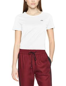 Lacoste TF3080, T-Shirt Femme, Blanc (Blanc), 38(Taille Fabricant: 38)