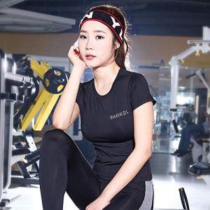 Leggings De Sport Femme T-Shirt De Sport Fitness Dames Vêtements De Yoga Vêtements À Manches Courtes Minces Hauts De Fitness À Séchage Rapide