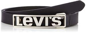 Levi's LEVIS FOOTWEAR AND ACCESSORIES LEVIS PLAQUE Ceinture, Noir (Regular Black 159), (Taille fabricant:85) Femme