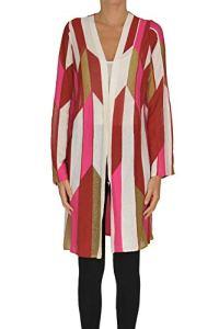 M Missoni Optical Print Knit Cardigan Woman Multicoloured 42 IT