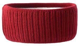 Michael Heinen Topmoderne Bandeau d'hiver pour oreilles avec flocons de neige Couleurs classiques – Rouge – Taille unique