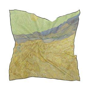 MONTOJ Van Gogh Wheatfield Big Square Foulards pour femme