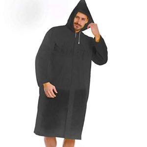 NoBrand Pratique Mode EVA Femmes Raincoat épaissie Manteau de Pluie imperméable Femmes Clair Camping Transparent étanche Suit Imperméables (Color : Black)