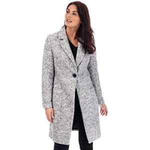 Only Onlastrid Marie Coat OTW Manteau, Gris (mélange de Gris Moyen), M Femme