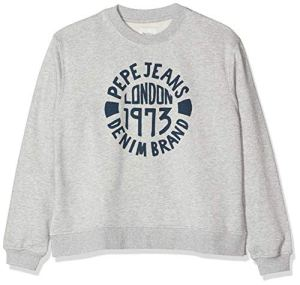 Pepe Jeans Nine Sweat-Shirt, Gris (Grey Marl 933), Large (Taille Fabricant:L) Femme