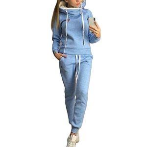 Snsunny – Combinaison de Sport 2 pièces – pour Femme – Bleu – M