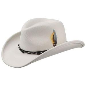 Stetson Chapeau Amasa Western VitaFelt de Cowboy (L (58-59 cm) – Blanc)