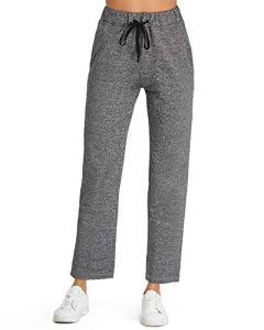 SUNNYME Pantalon de Sport Femme Yoga Casual Jogging Grande Taille Serrage à Cordon Gym X-Gris Foncé XL