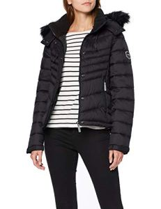 Superdry Fuji Slim 3 in 1 Jacket Blouson, Noir (Blackboard 04A), 40 (Taille Fabricant: Medium) Femme