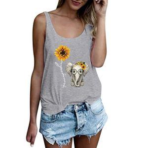 TAMALLU T-Shirt à col Rond pour Femme – Gris – Small