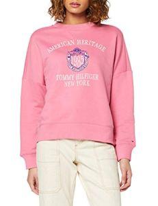 Tommy Hilfiger Ozlem C-NK Sweatshirt Ls Manteau, (Chateau Rose TBD), X-Large Femme