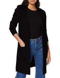 Vero Moda Vmtasty Fullneedle Ls New Coatigan Noos Manteau, Noir (Black Black), 36 (Taille Fabricant: X-Small) Femme