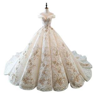 WFHhsxfh Fuite de la Robe de mariée de d'épaule, Robe Adulte Princesse, Robe de Cocktail Robe de mariée Robes de mariée pour la mariée (Size : M)