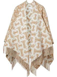 BURBERRY Luxury Fashion Femme 8022741 Beige Poncho  