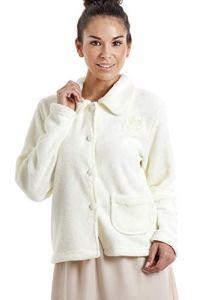 Camille Boutons Souples de pour Femmes et Vestes de lit zippées Diverses Couleurs et modèles 50/52 Ivory