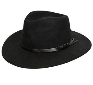 Classic Italy – Chapeau fedora feutre – 10 Colories – homme ou femme Classique Large – Taille 60 cm – noir
