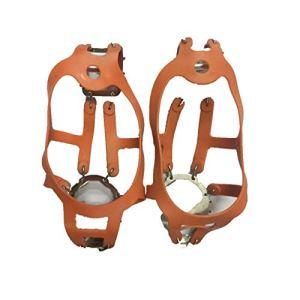 DishyKooker – Chaussures antidérapantes pour l'extérieur – 18 dents – Orange – Taille L (41-46)