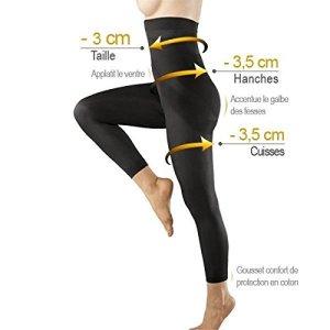 Générique Legging Minceur Taille Haute molletoné Galbant Gainant Anti-Cellulite Taille S M L XL XXL XXXL 34 à 52 (S/M(34-40))