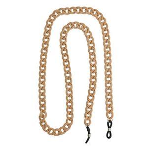 Sharplace Lanière Cordon de Lunettes Longe Corde Chaînes Accessoires de Retenue en acrylique – Brun, 75cm