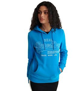Superdry VL Outline Pop Entry Hood Ub Sweat-Shirt À Capuche, Bleu (Light Cobalt K6W), L (Taille Fabricant:14) Femme
