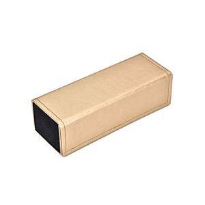 szlsl88 Lunettes de soleil pliables en cuir synthétique Étui à lunettes, N° 0, beige, Free Size