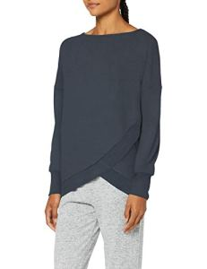 Triumph Thermal Sweater Haut de Pyjama, Bleu, 44 Femme