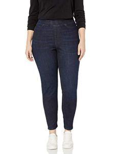 Amazon Essentials Plus Size Pull-on Skinny Jegging jeans, Noir délavé, 28 Long