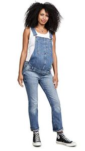 DL1961 Women's Mara Straight Ankle Maternity Overalls, Barrow, Blue, X-Small