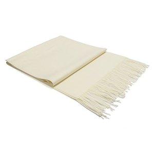 Écharpe Femme Étole Pashmina Tissage Uni Châle Foulard Chaud Tassels Couleur Unie Doux et Long 200 x 70 cm((10+ Couleurs) (Beige)