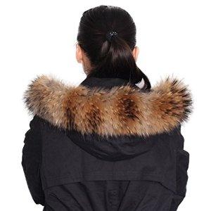 Fourrure ¨¦charpe de ch?le de Dancel femme pour le col d'hiver de manteau ou Bords capuche 80cm*13cm