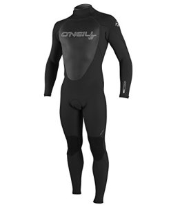 O'Neill Wetsuits Mens 4/3 mm Epic Full Suit, Black/Black/Black, Large Tall by