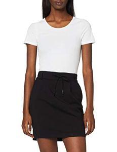 ONLY NOS Onlpoptrash Easy Skirt Pnt Noos Jupe, Femme, Noir (Black), 34 (Taille Fabricant: XS)